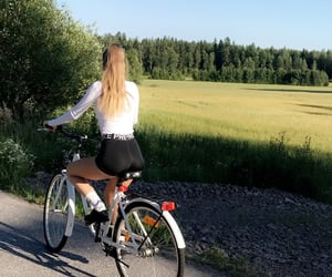bike, biking, and field image