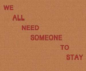 stay, orange, and quotes image