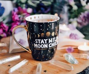 coffe, full moon ritual, and constellation mug image