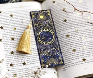 book, bookmark, and etsy image