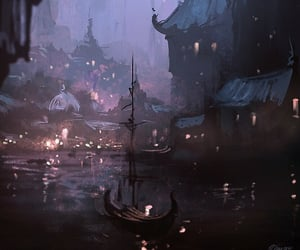 fantasy, city, and art image