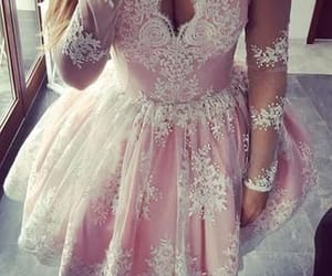 short prom dresses, pink prom dress, and cheap prom dresses image