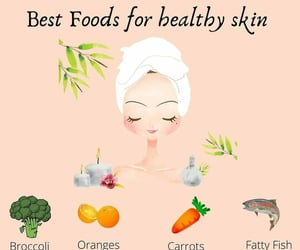 eat, healthy skin, and fish image