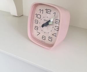 aesthetic, clock, and rose image