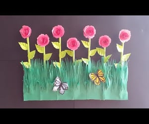 paper craft, paper flower, and video image