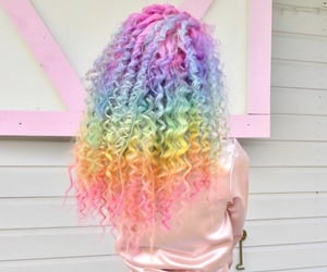 beautiful, colorful, and hairstyle image