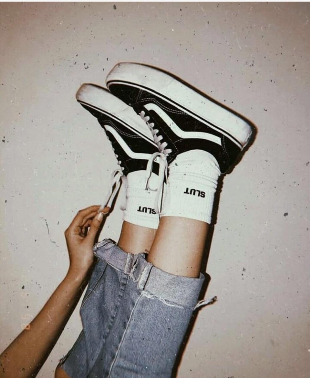 vans, jeans, and socks image