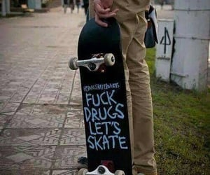skate, drugs, and skateboard image