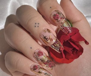 nails, aesthetic, and bee image