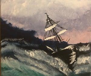 acrylics, art, and ocean image