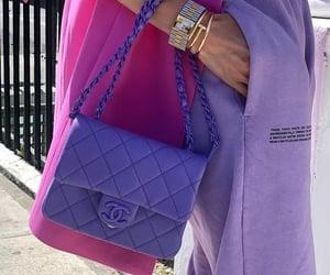 chanel, purple, and bag image