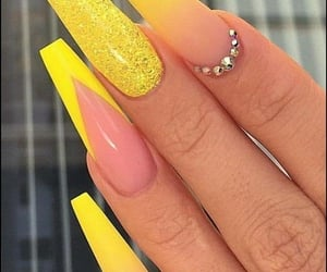 nails, acrylic, and style image