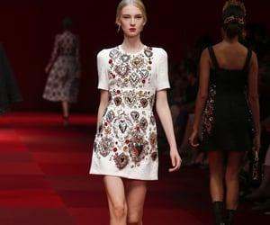 dress, runway, and dolce gabbana image