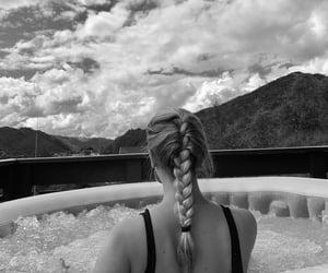 bikini, black n white, and house image