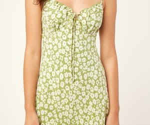 dress, fashion, and pastel green image