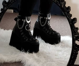 aesthetic, emo, and shoes image