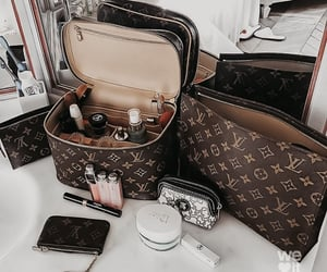 Louis Vuitton, makeup, and aesthetic image