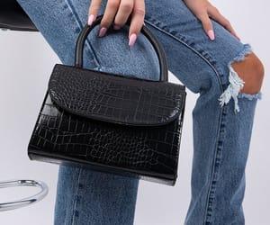 black, handbag, and square image