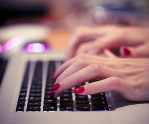 nails, red, and computer image