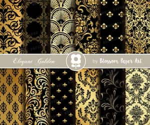 etsy, digital download, and gold scrapbooking image