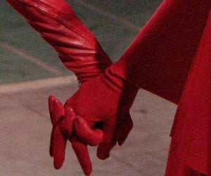 gloves and red image
