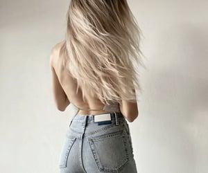 blonde hair, fashion, and hair image