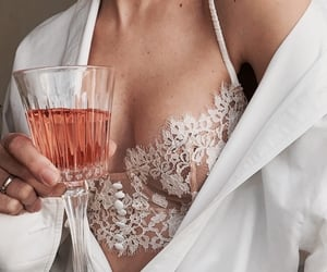 bra, brown, and drinks image