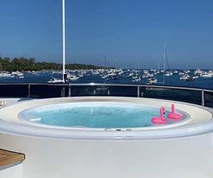 bateau, boat, and holiday image