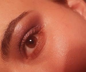 brown eyes, purple, and eyeshadow image