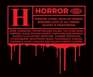 horror, aesthetic, and red image