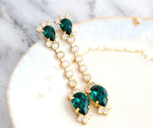 etsy, wedding jewelry, and long earrings image