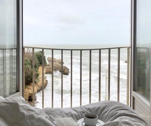 beach, coffee, and bed image