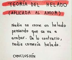 love, frases, and helado image