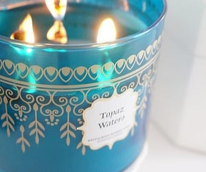 blue, topaz, and candle image