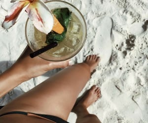 beach, drinks, and food image