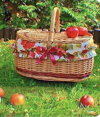 aesthetic, apples, and basket image