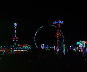 Noche, parque de diversiones, and fondo de pantalla image
