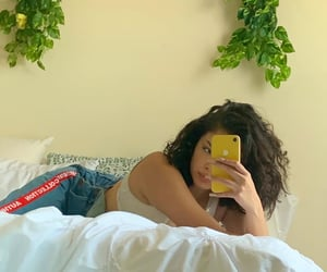 aesthetic, bed, and white sheets image