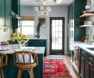 carpet, interior, and kitchen image