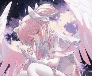 anime, wings, and bishoujo image