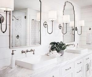 bathrooms, interior design, and white image