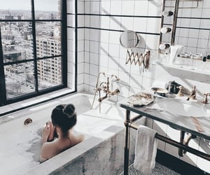 bathrooms, cities, and girls image