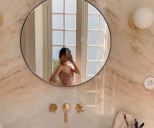 mirror, aesthetic, and bathroom image