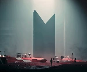alien, control, and monolith image