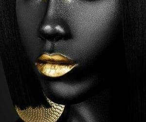 art, beautiful, and black and gold image