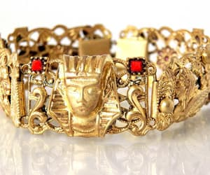 egyptian, antique bracelet, and egyptian revival jewelry image