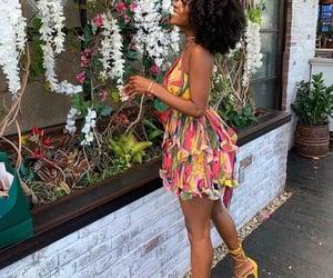 black women, floral dress, and girls image
