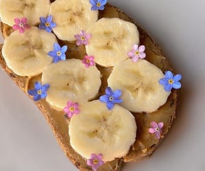 flowers, food, and banana image