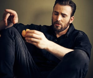 chris evans, handsome, and dorito image