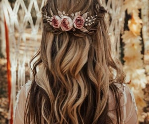 hair and flower image